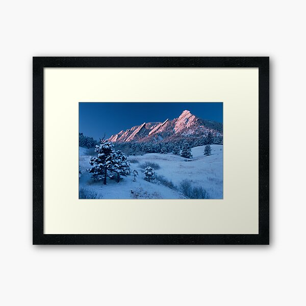 Cathedral - The Flatirons At Sunrise Framed Art Print
