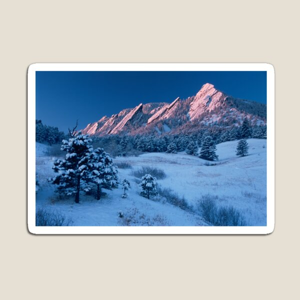 Cathedral - The Flatirons At Sunrise Magnet