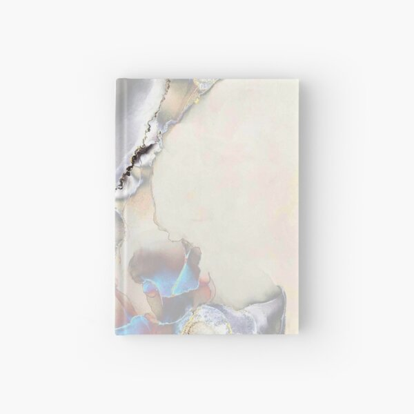 Silver, blue and black abstract Hardcover Journal