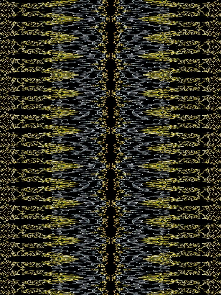 Bohemian Rustic Motif Gold by vkdezine