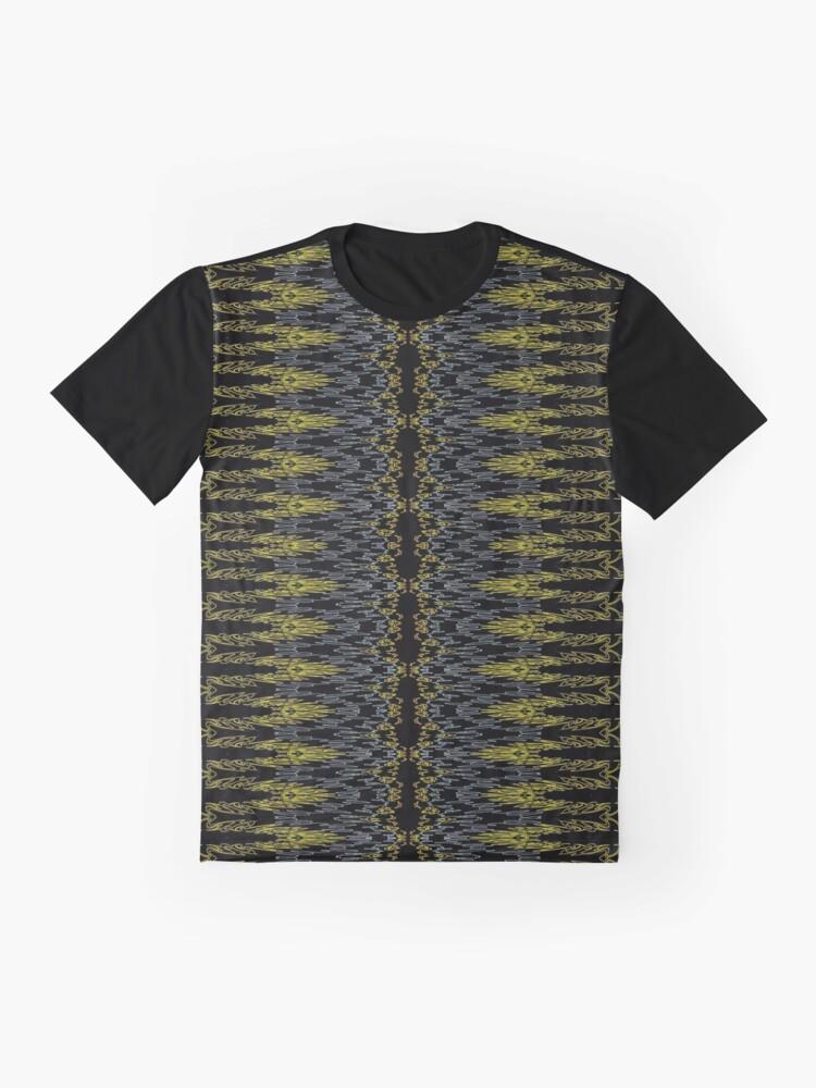 Alternate view of Bohemian Rustic Motif Gold Graphic T-Shirt