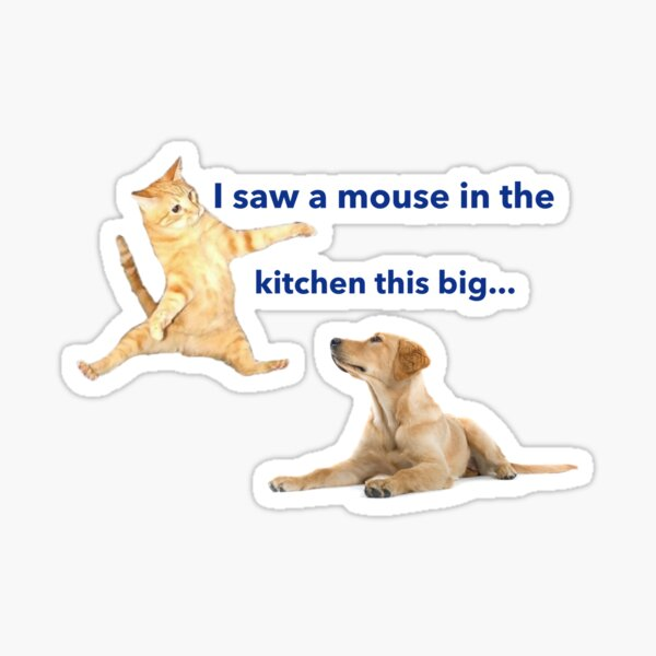 Dogs And Cats Mems - funny Sticker