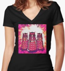 Radiant Daleks Women's Fitted V-Neck T-Shirt
