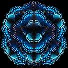 Blue Butterfly Mandala - Symmetrical by jenithea