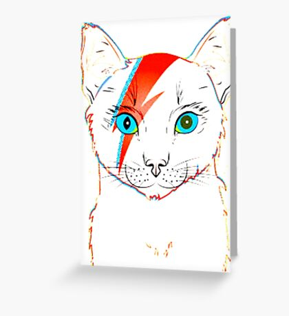 cat stardust Greeting Card