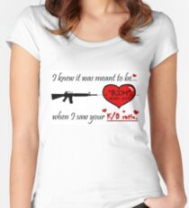 Valentine for the FPS Gamer Geek Valentine's Day Card Women's Fitted Scoop T-Shirt