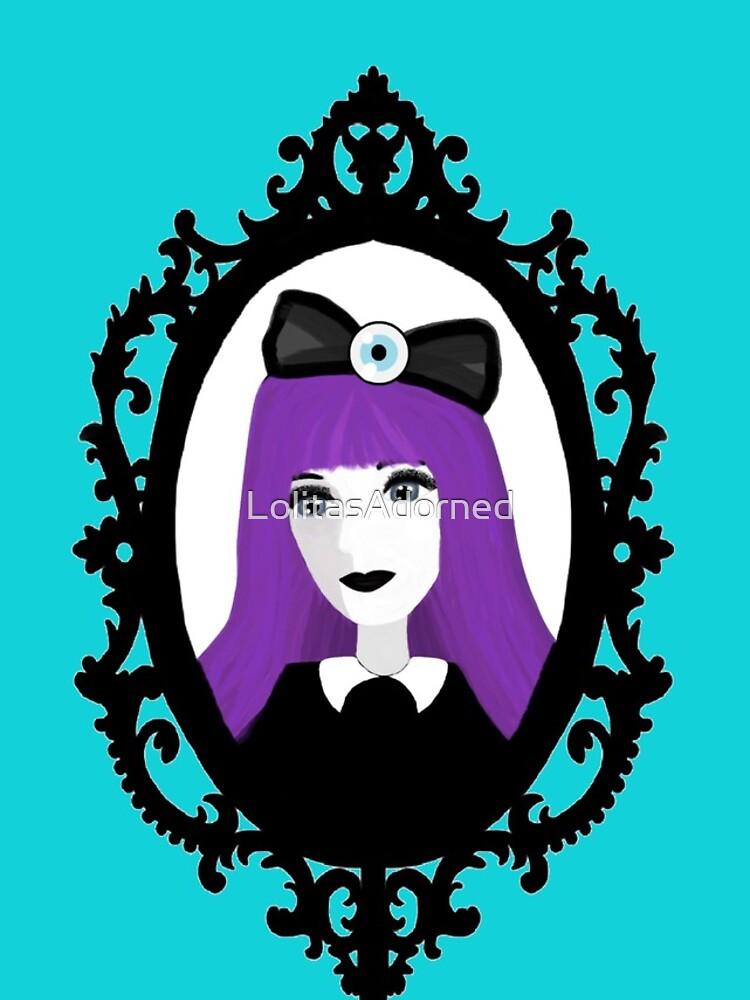 Purple Pastel Goth - Aqua by LolitasAdorned