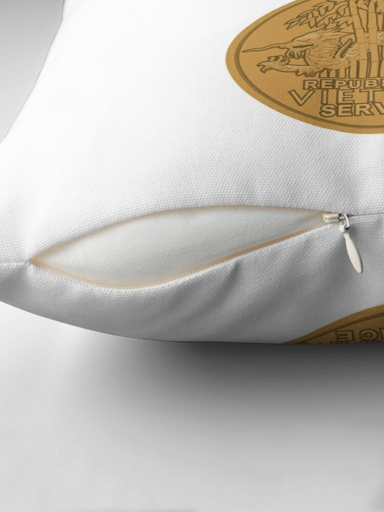 Alternate view of Vietnam Medal Throw Pillow