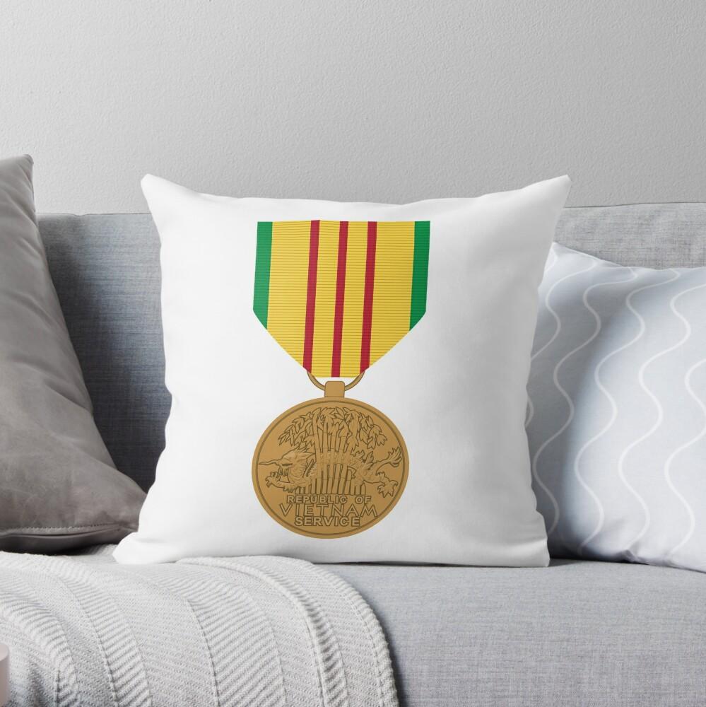 Vietnam Medal Throw Pillow