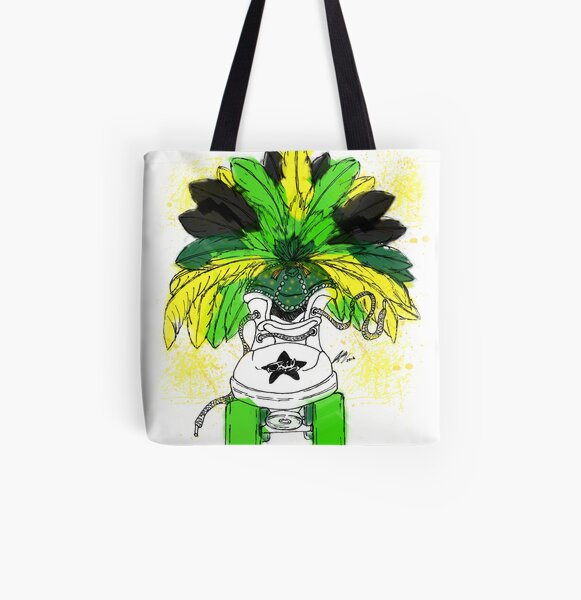 Jiggy Jamaica Skate All Over Print Tote Bag