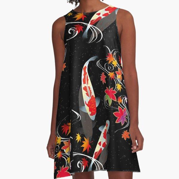Japanese Koi A-Line Dress