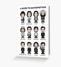 A Guide To Santispotting Greeting Card