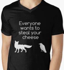 Jeder möchte deinen Käse stehlen T-Shirt mit V-Ausschnitt für Männer