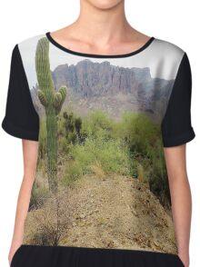 Superstitious Cactus Women's Chiffon Top