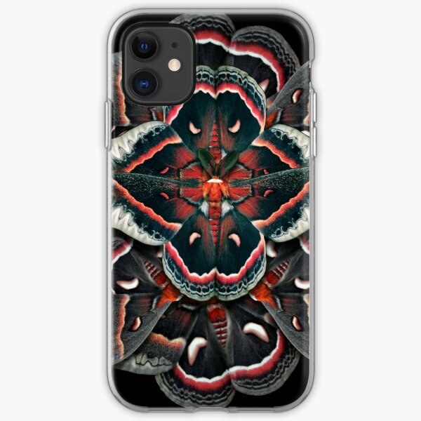 Cecropia Moth Mandala - Asymmetrical iPhone Soft Case