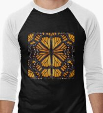 Monarch Butterfly Mandala Men's Baseball ¾ T-Shirt