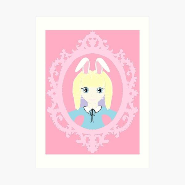 Kawaii Bunny Cosplay Girl Art Print