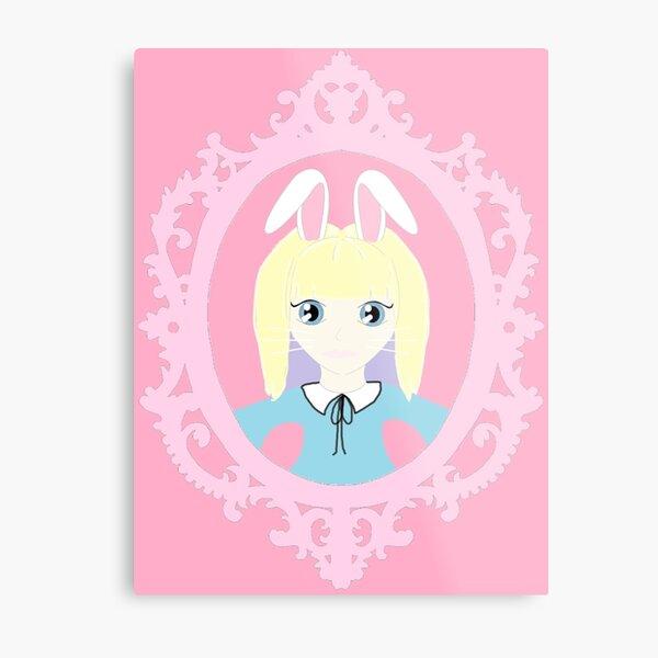 Kawaii Bunny Cosplay Girl Metal Print