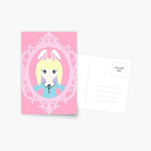 Kawaii Bunny Cosplay Girl Postcard