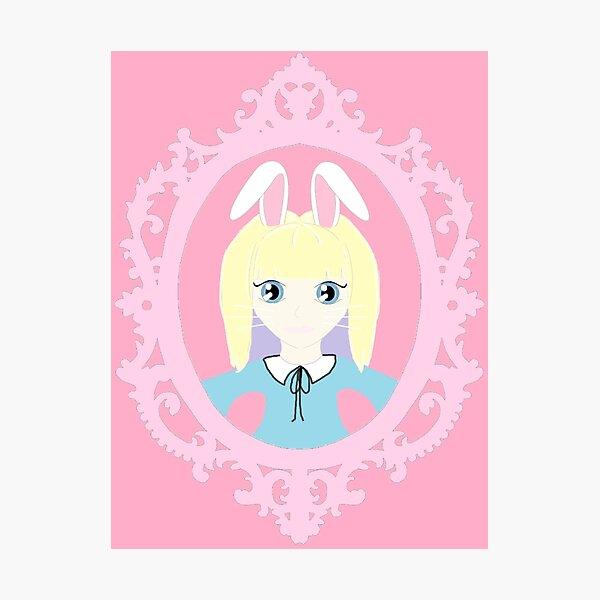 Kawaii Bunny Cosplay Girl Photographic Print
