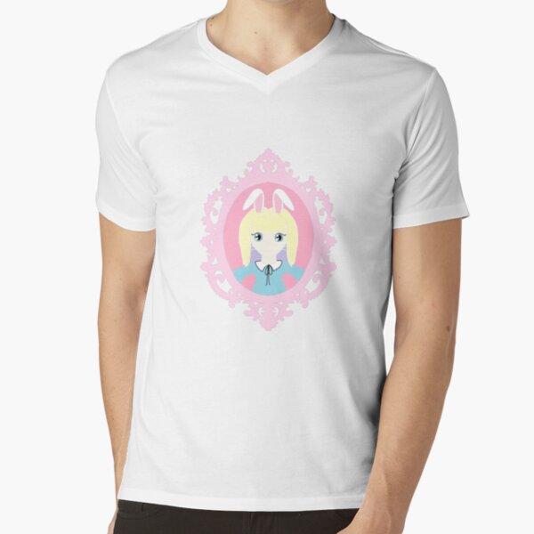 Kawaii Bunny Cosplay Girl V-Neck T-Shirt