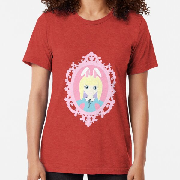 Kawaii Bunny Cosplay Girl Tri-blend T-Shirt