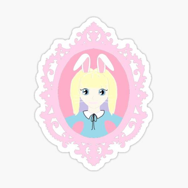 Kawaii Bunny Cosplay Girl Sticker