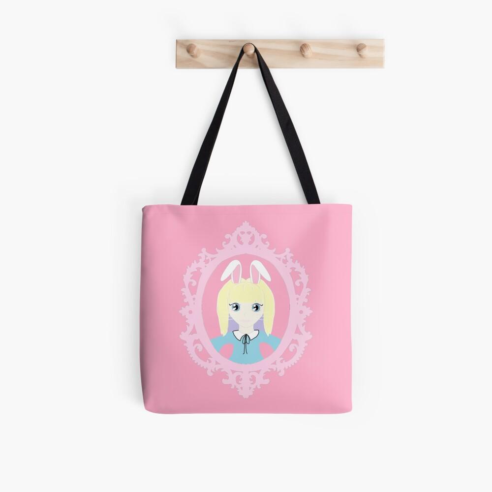 Kawaii Bunny Cosplay Girl Tote Bag