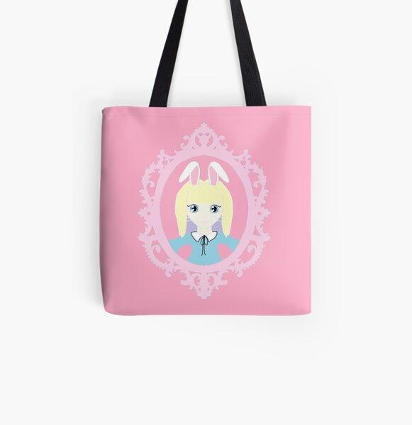 Kawaii Bunny Cosplay Girl All Over Print Tote Bag