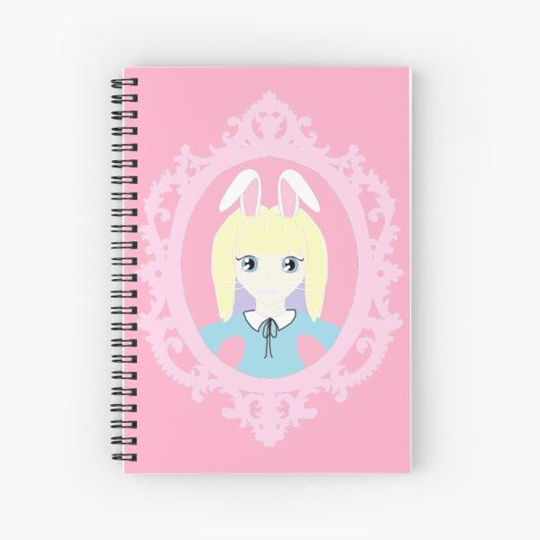 Kawaii Bunny Cosplay Girl Spiral Notebook