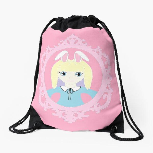 Kawaii Bunny Cosplay Girl Drawstring Bag