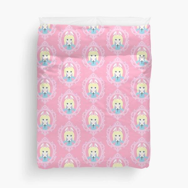 Kawaii Bunny Cosplay Girl Duvet Cover