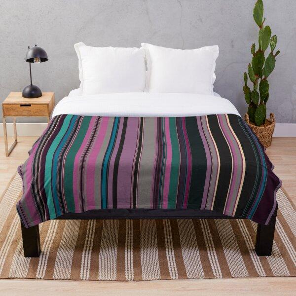 Multi Color Vertical Stripes 2 Throw Blanket