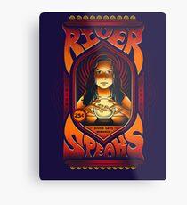 River Speaks Metal Print
