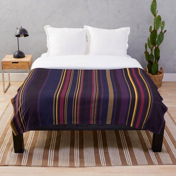 Multi Color Vertical Stripes 3 Throw Blanket