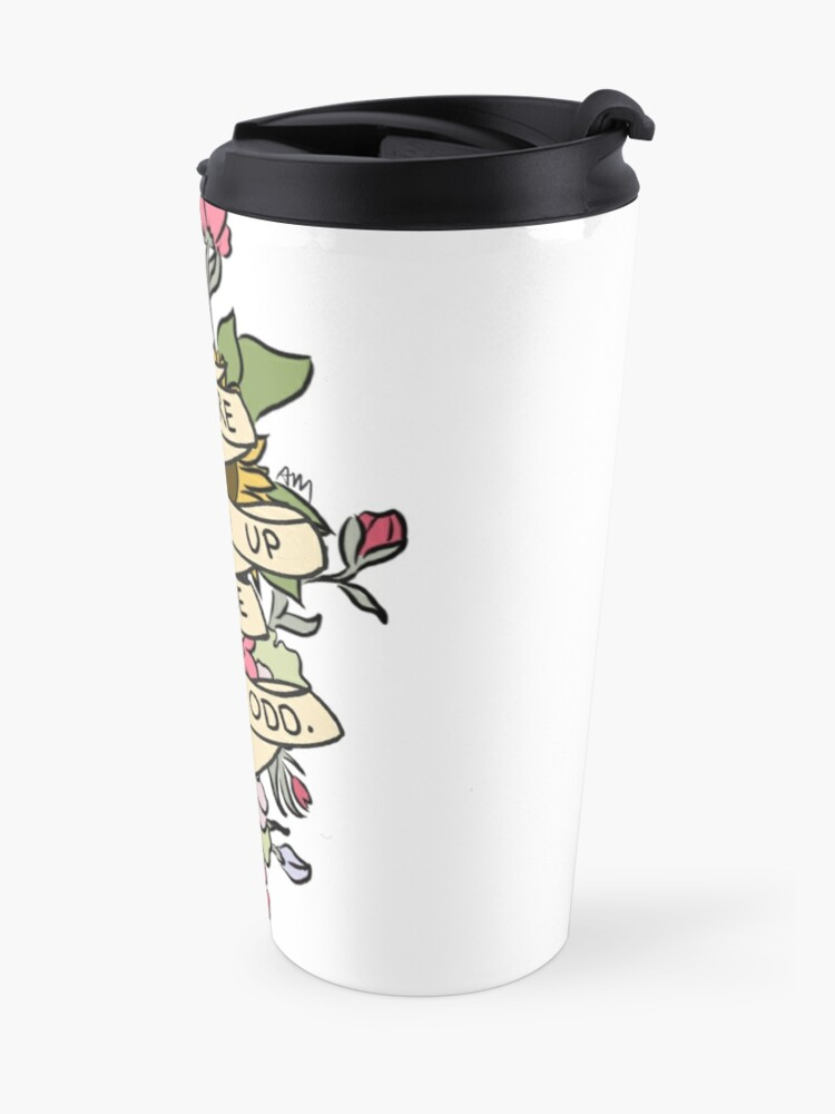 """Alternate view of """"Things Are Shaping Up To Be Pretty. Odd."""" Travel Mug"""