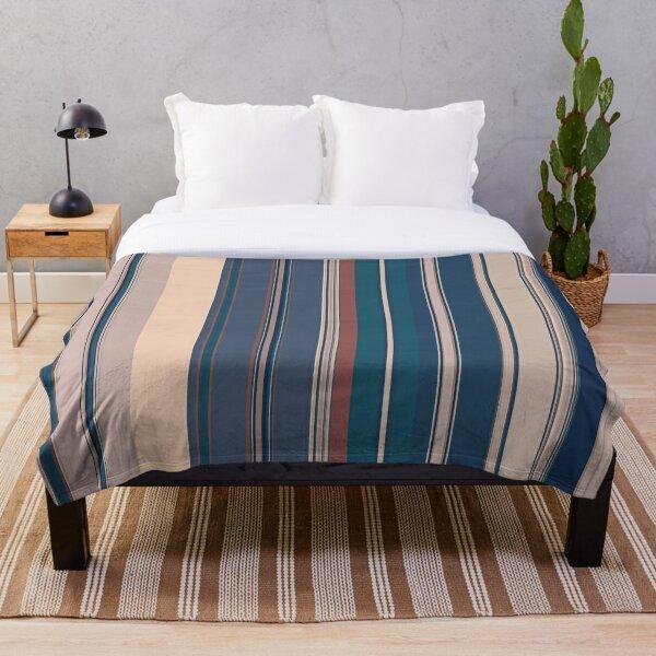 Multi Color Vertical Stripes 5 Throw Blanket