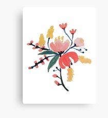 Peach Floral Canvas Print