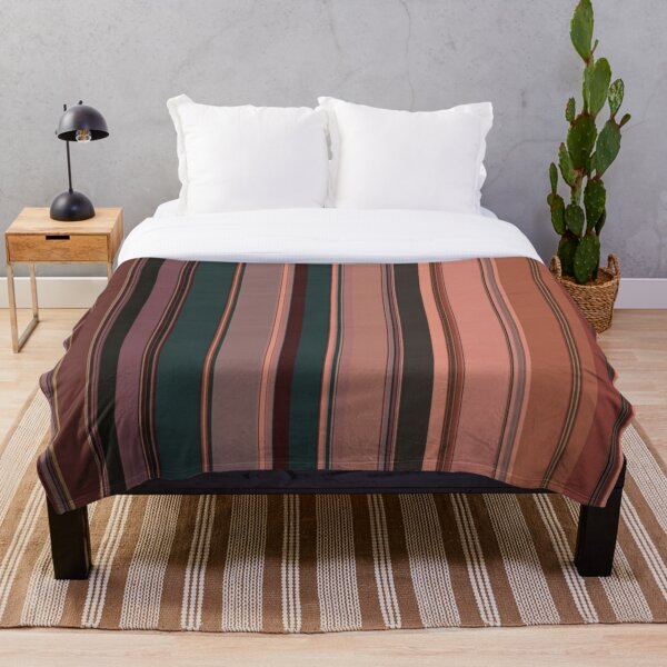 Multi Color Vertical Stripes 10 Throw Blanket