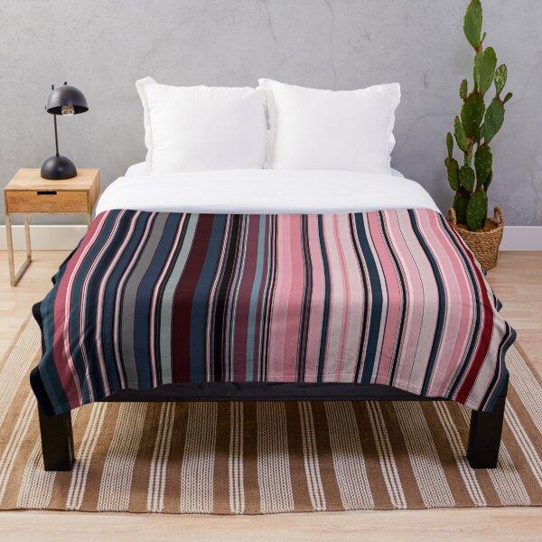 Multi Color Vertical Stripes 12 Throw Blanket