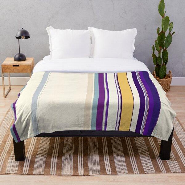 Multi Color Vertical Stripes 13 Throw Blanket