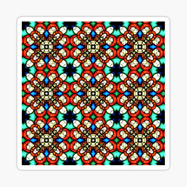 Stained Glass Style Pattern Sticker