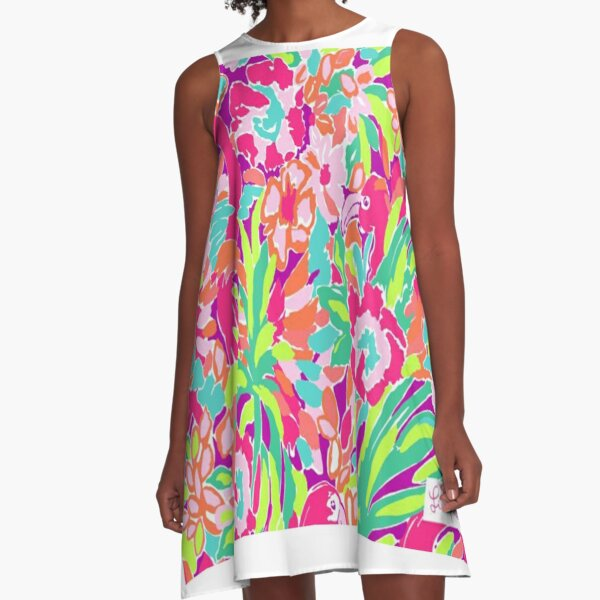 lilly pulitzer Watercolor Flower's day 2021 A-Line Dress