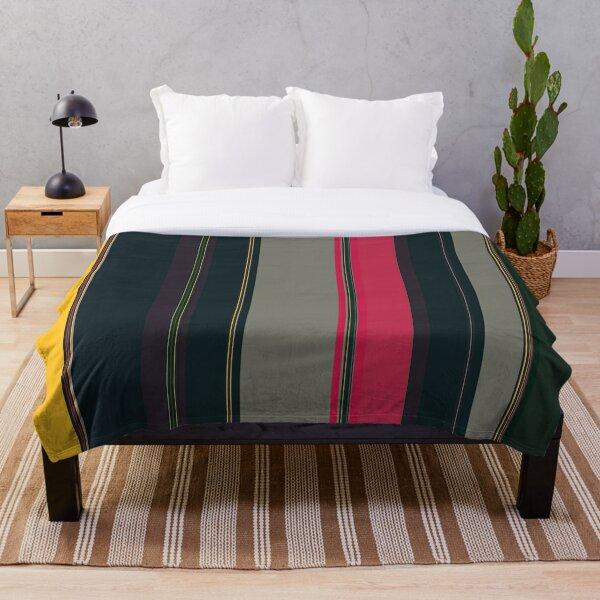 Multi Color Vertical Stripes 15 Throw Blanket