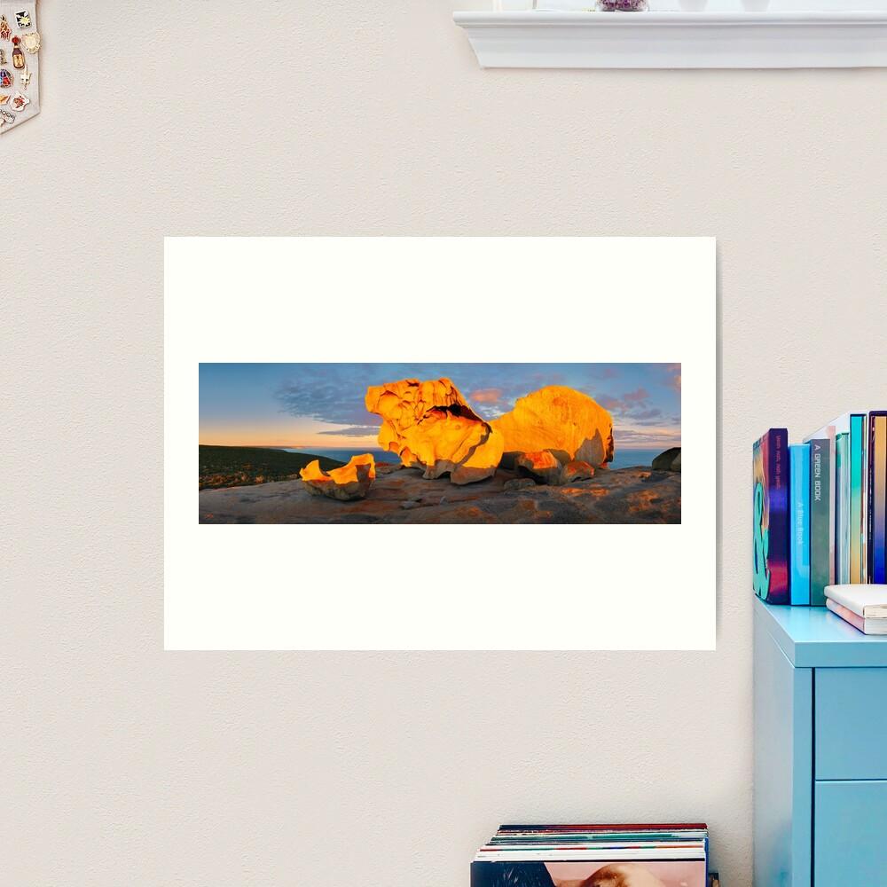Remarkable Rocks Sunset, Kangaroo Island, South Australia Art Print