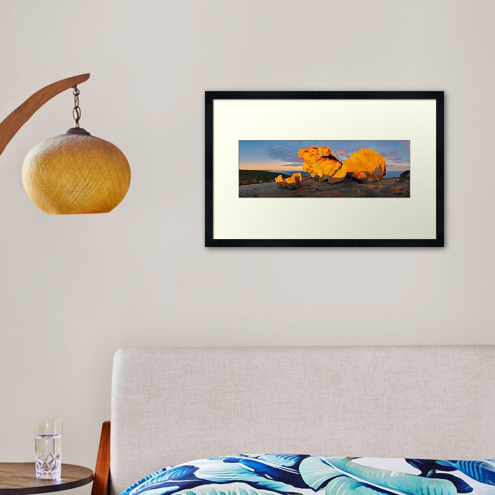 Remarkable Rocks Sunset, Kangaroo Island, South Australia Framed Art Print