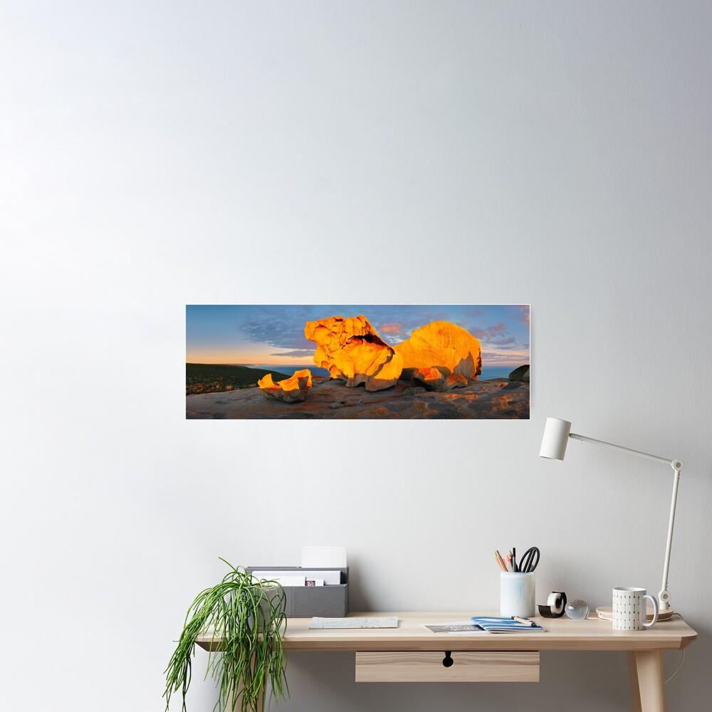 Remarkable Rocks Sunset, Kangaroo Island, South Australia Poster