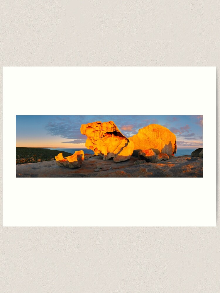 Alternate view of Remarkable Rocks Sunset, Kangaroo Island, South Australia Art Print