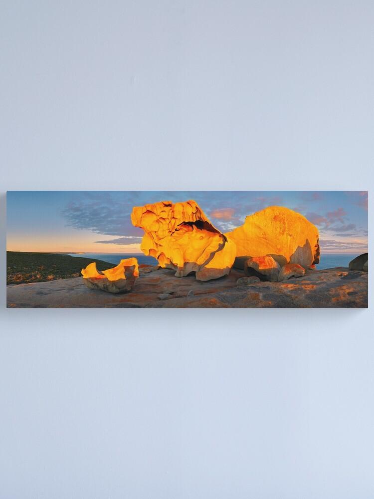 Alternate view of Remarkable Rocks Sunset, Kangaroo Island, South Australia Canvas Print