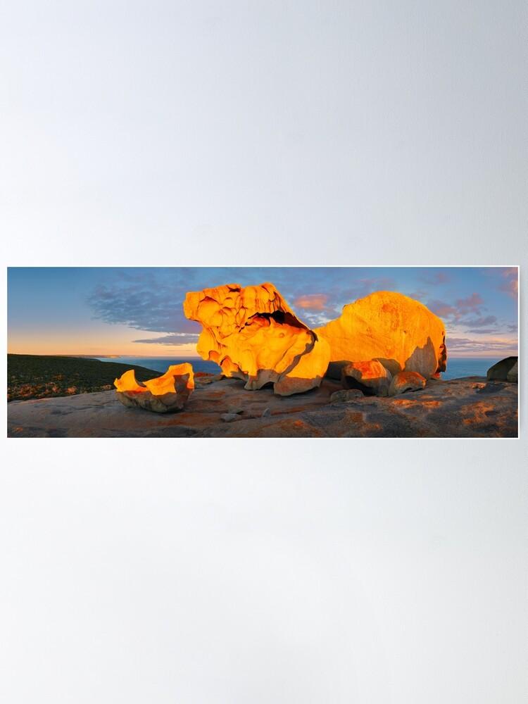 Alternate view of Remarkable Rocks Sunset, Kangaroo Island, South Australia Poster